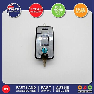 AU20 • Buy Push Lock Compression Latch Handle Large Silver Trailer Truck Toolbox Canopy *1