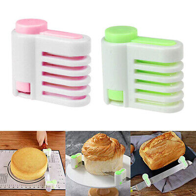 £3.31 • Buy Ee_ 1pc 5 Layers Kitchen Diy Bread Cake Cutter Leveler Slicer Cutting Fixator To