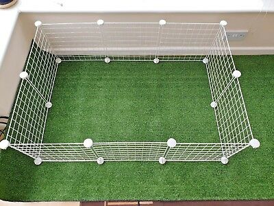 C&c , C  And C  Guinea Pig Run / Cage , Indoor,outdoor.  White Grids . All Sizes • 43.99£