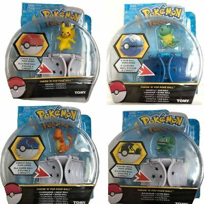 Pikachu Throw 'N' Pop Poke Ball Action Figures Toys Pokemon GO Kids Xmas Gift • 7.68£