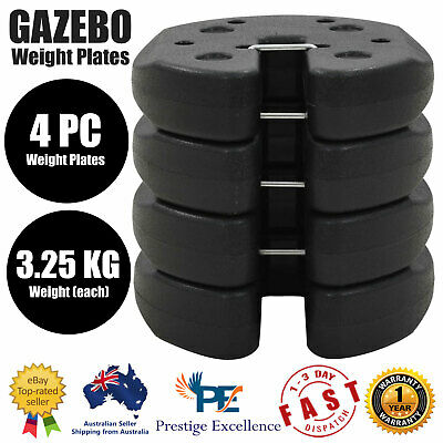 AU72.90 • Buy 4 Pieces Gazebo Weight Plates Black 220x30 Mm Concrete Support Outdoor Equipment