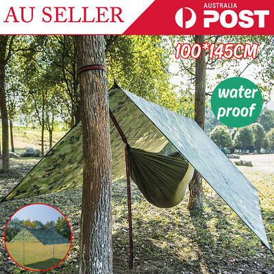 AU22.91 • Buy Multifunction Hiking Tent Tarp Waterproof Protection Heavy Duty Shade Sun Canopy