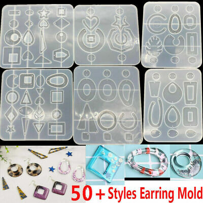 AU10.99 • Buy Silicone Earring Pendant Mold Necklace Jewelry Resin Mould Casting Craft Tool
