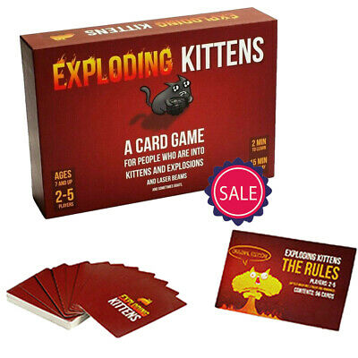 AU17.99 • Buy Exploding Kittens Card Game Original Edition Brand 2-5 Players Toy Game Poker