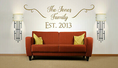 £22.99 • Buy Personalised Family Name, Vinyl Wall Art Sticker, Mural, Decal. Wall Decor