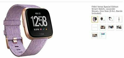 $ CDN175.96 • Buy Fitbit Versa Special Edition Smart Watch, Lavender Woven, One Size