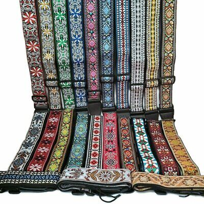 $ CDN13.79 • Buy New Retro Vintage Jacquard Woven Acoustic Electric Guitar Strap