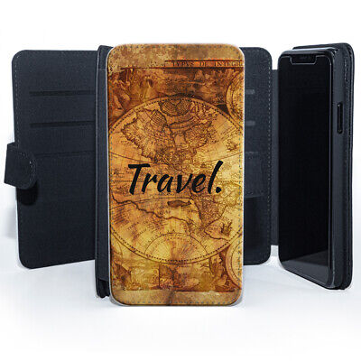 Travel Vintage World Map  Leather Phone Case • 7.99£