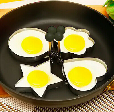 Stainless Steel Fried Egg Shaper DIY Frying Pan Pancake Cooking Ring Mould Mold • 2.49£