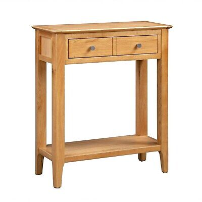 £134.96 • Buy Narrow Solid Oak Console Table With Drawers - Adeline