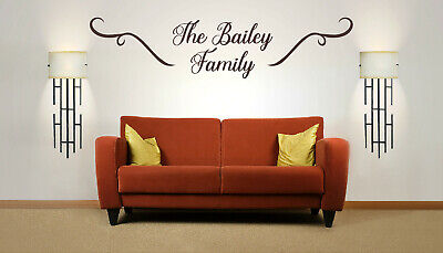£15.49 • Buy Personalised Family Name, Vinyl Wall Art Sticker, Mural, Decal. Wall Decor