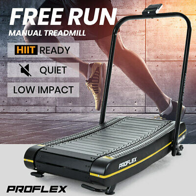 AU699 • Buy PROFLEX Manual Treadmill Curved Belt Motorless Powerless Non Motorised Electric