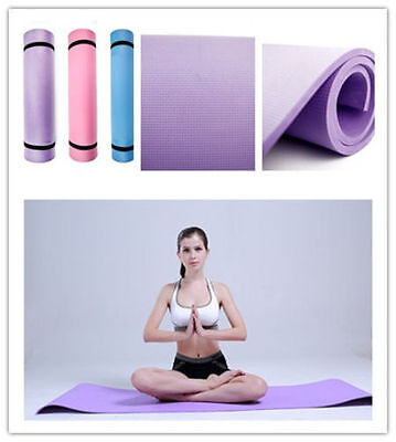 AU13.90 • Buy Yoga Mat 6mm Thick Exercise Fitness Physio Pilates Gym Mats Non Slip Carrier Jk