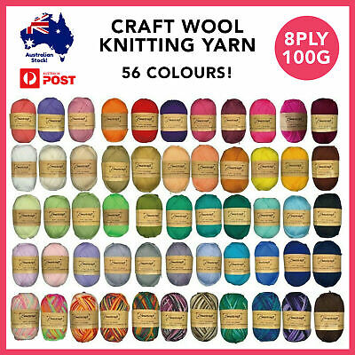 AU11.99 • Buy 3/6/9/12pcs Knitting Yarn Polyester Wool 8ply 100g Crochet Project Art And Craft