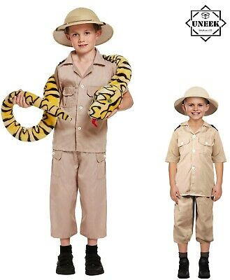 Childs COSTUME SAFARI EXPLORER Boys Zoo Keeper Outfit Jungle Fancy Dress Kids  • 10.35£