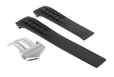 £42.51 • Buy 22mm Rubber Strap Watch Band Clasp For Tag Heuer Slr Cag2111.ft6009 Watch Black