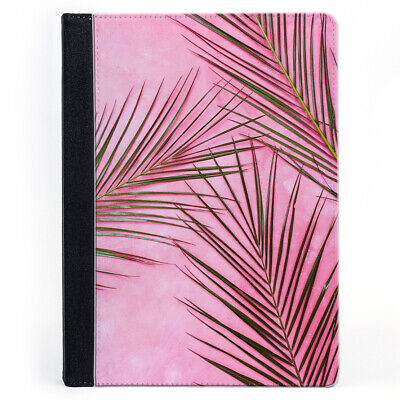 Palm Tree Leaves Pink Wallet Tablet Leather Case Cover • 19.99£