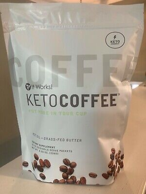 $38.99 • Buy IT WORKS Keto Coffee Carb Management  NEW SEALED Package - 15 Single Serve Packs