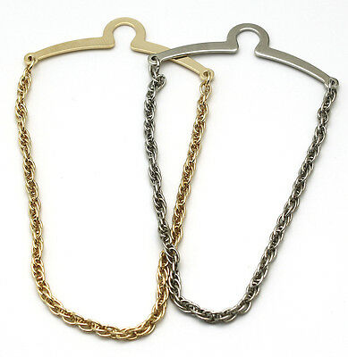 $22.95 • Buy NEW Mens 5mm Tie Chain Tack Clip Silver Double Woven Rope USA Gift  Boxed
