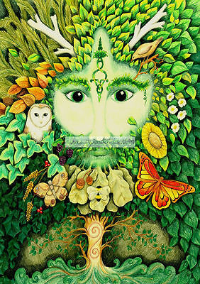 £2.45 • Buy Yule Card Green Man Pagan Medieval Game Of Thrones Wiccan Celtic Green Christmas