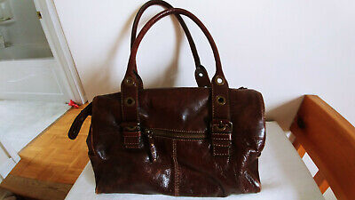 $ CDN35 • Buy VINTAGE DANIER Reddish Brown Doctors Satchel Shoulder Clutch Purse Bag SZ MED
