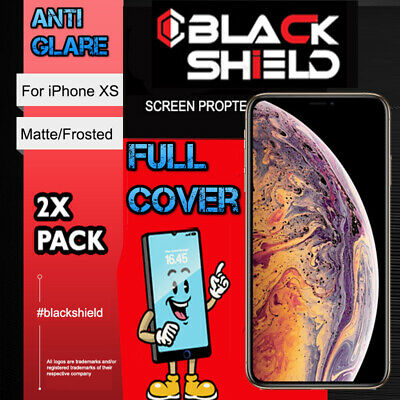 AU7.99 • Buy For IPhone XS, Full Cover Anti Glare Matte Frosted Screen Protector For IPhone X