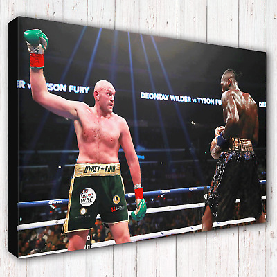 TYSON FURY Vs Deontay Wilder (1) | Boxing Canvas Print Wall Art Photo | 5 Sizes • 23.97£