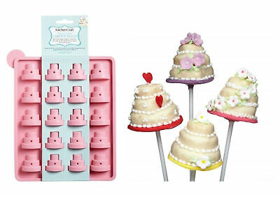 £4.49 • Buy Kitchencraft Silicone Tiered Cake Pop Mould 20 Pops Cupcake Lollipop Mould Tool