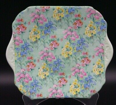 1940-66 Shelley Chintz Melody N13453 24 Cm Tab Handled Cake Plate Good Used Cond • 37.19£