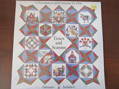 $14 • Buy A Piecemakers Quilt Calendar 1994 ~ Times And Seasons ~ Patterns Included ~ NEW