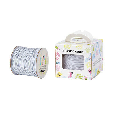 $ CDN13.40 • Buy 1 Roll Elastic Cord With Nylon Outside And Rubber Inside Soft Stretch Thread 1mm