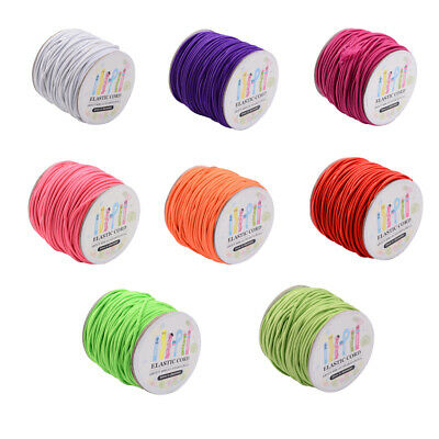 $ CDN17.26 • Buy 1 Roll Elastic Cord With Nylon Outside And Rubber Inside Soft Stretch Thread 2mm