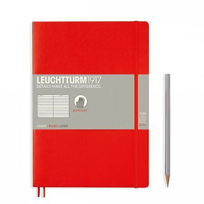 AU29.95 • Buy Leuchtturm1917 Notebook B5 Softcover Composition Lined - Red