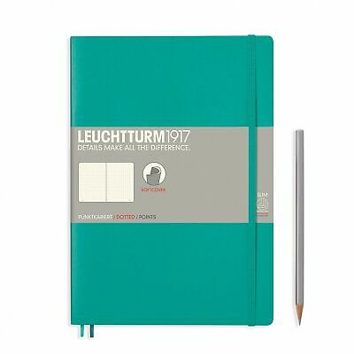 AU29.95 • Buy Leuchtturm1917 Notebook B5 Softcover Composition Dotted - Emerald