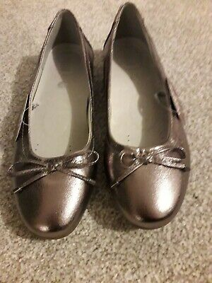 Ladies' Metallic Shoes 7 - 40 - Wide Fit - Pewter • 10£