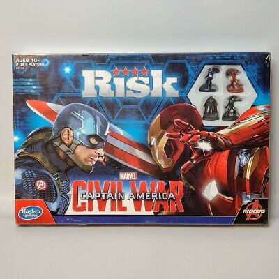 $30 • Buy Risk: Captain America Civil War Edition Game By Hasbro Gaming Marvel Avengers
