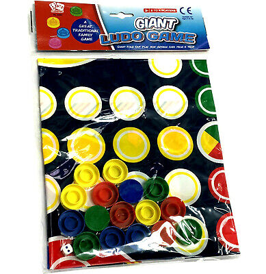 Giant Ludo Playmat Game Party Toy Kids Family Activity Christmas Stocking Filler • 2.90£