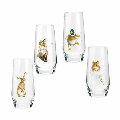 £36.95 • Buy  Wrendale Designs  Royal Worcester Country Animals Hi-Ball Glasses Set Of 4