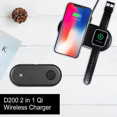 $ CDN25.23 • Buy 2 In 1 Qi Wireless Charger Mat For QI Smartphone & Apple Watch All Series