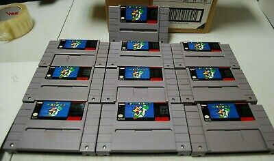 $ CDN199.99 • Buy Super Mario World (Nintendo SNES, 1992) Lot Of 10. Cartridge Only.