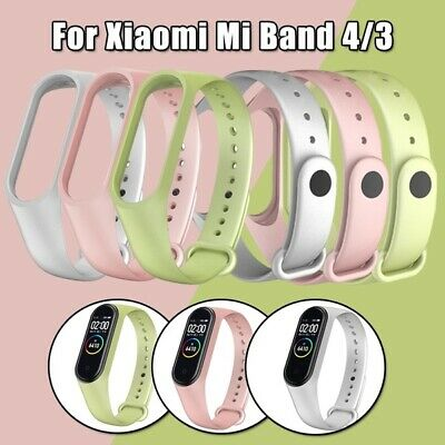 $5.19 • Buy For Xiaomi Mi Band 4/3 TPU Silicone Bracelet Watch Strap Wristband Replacement