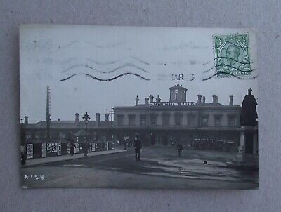 Great Western Railway Station Reading Posted 1913 Rp • 4.99£
