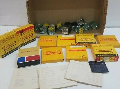 $4.99 • Buy Vintage Camera Accessories Lot Of 10 Flim Boxes With New And Used And Cube Flash