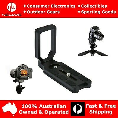 AU17.39 • Buy Universal L-Bracket Quick Release Plate For DSLR Camera Arca Swiss Tripod Head