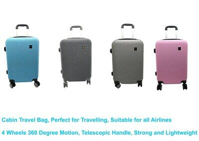 £19.99 • Buy Ryanair Cabin Bag Hand Luggage Small Travel Case 4 Wheeled ABS Hard Suitcase