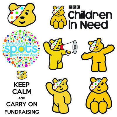 Children In Need 2020 Charity Fundraiser Pudsey Iron On T-shirt Transfer • 3.99£