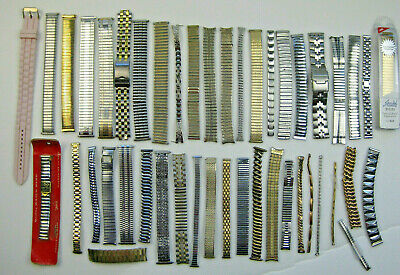 $ CDN11.97 • Buy Lot Of VINTAGE WRIST WATCH BANDS - SEVERAL WITH END PIECES