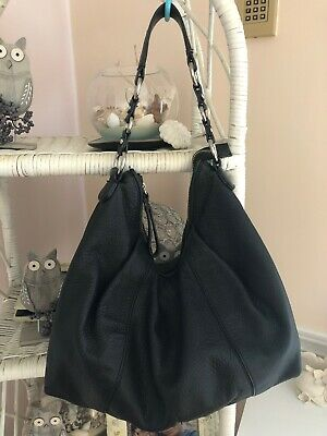 $ CDN33 • Buy Authentic Danier Shoulder Black Leather Bag Vintage Style 100% Soft Leather