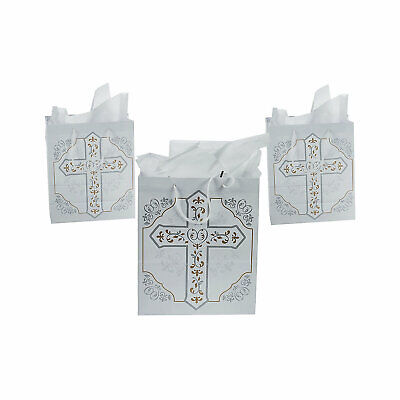 $15.89 • Buy Medium Religious Cross Gift Bags - Party Supplies - Party Favors - 12 Pieces