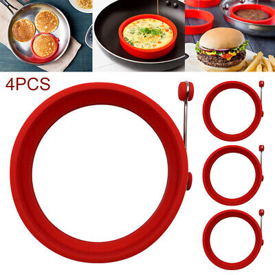 $9.99 • Buy 4Pcs Silicone Egg Fried Ring Round Mold Pancake Mold Breakfast Cooking Tool US